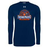 Under Armour Navy Long Sleeve Tech Tee-Fresno Pacific Track & Field