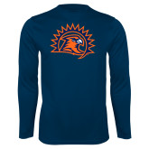 Performance Navy Longsleeve Shirt-Sunbird Head