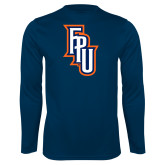 Performance Navy Longsleeve Shirt-Angled FPU