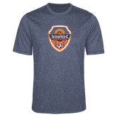 Performance Navy Heather Contender Tee-Sunbirds Soccer Shield