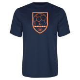 Performance Navy Tee-Soccer Shield