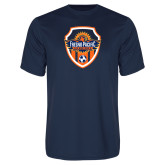 Performance Navy Tee-Sunbirds Soccer Shield