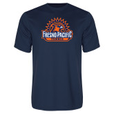 Performance Navy Tee-Fresno Pacific Tennis