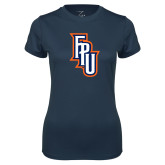 Ladies Syntrel Performance Navy Tee-Angled FPU