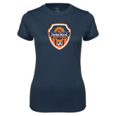 Ladies Syntrel Performance Navy Tee-Sunbirds Soccer Shield