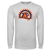White Long Sleeve T Shirt-Sunbird Head