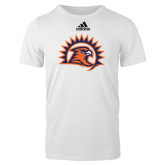 Adidas White Logo T Shirt-Sunbird Head