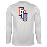 Performance White Longsleeve Shirt-Angled FPU