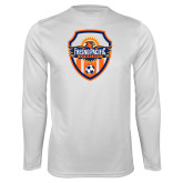 Performance White Longsleeve Shirt-Sunbirds Soccer Shield