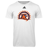 Adidas Climalite White Ultimate Performance Tee-Sunbird Head