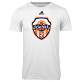 Adidas Climalite White Ultimate Performance Tee-Sunbirds Soccer Shield