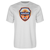 Performance White Tee-Sunbirds Soccer Shield