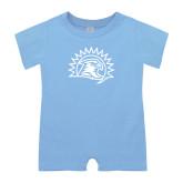 Light Blue Infant Romper-Sunbird Head