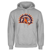 Grey Fleece Hoodie-Sunbird Head