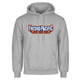 Grey Fleece Hoodie-Fresno Pacific Athletics Stacked