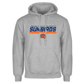 Grey Fleece Hoodie-Fresno Pacific University Sunbirds Stencil