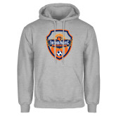 Grey Fleece Hoodie-Sunbirds Soccer Shield