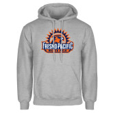 Grey Fleece Hoodie-Fresno Pacific Water Polo
