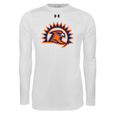 Under Armour White Long Sleeve Tech Tee-Sunbird Head