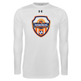 Under Armour White Long Sleeve Tech Tee-Sunbirds Soccer Shield