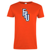 Ladies Orange T Shirt-Angled FPU