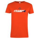 Ladies Orange T Shirt-#TEAMFPU