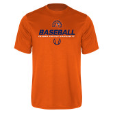 Performance Orange Tee-Baseball Stencil