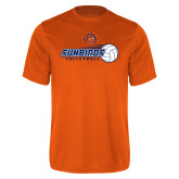 Performance Orange Tee-Sunbirds Volleyball w/ Flying Ball