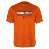 Performance Orange Tee-Fresno Pacific University Swim & Dive Stencil