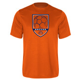 Performance Orange Tee-Soccer Shield