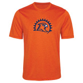 Performance Orange Heather Contender Tee-Sunbird Head