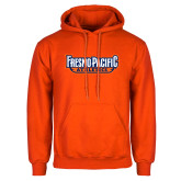 Orange Fleece Hoodie-Fresno Pacific Athletics Stacked