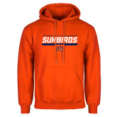 Orange Fleece Hoodie-Fresno Pacific University Sunbirds Stencil