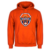 Orange Fleece Hoodie-Sunbirds Soccer Shield