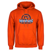 Orange Fleece Hoodie-Fresno Pacific Water Polo