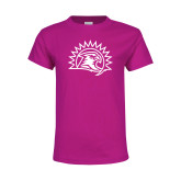 Youth Cyber Pink T Shirt-Sunbird Head