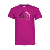 Youth Fuchsia T Shirt-Sunbird Head Foil