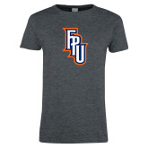 Ladies Dark Heather T Shirt-Angled FPU