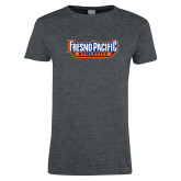 Ladies Dark Heather T Shirt-Fresno Pacific Athletics Stacked