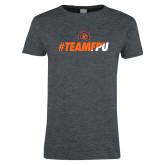 Ladies Dark Heather T Shirt-#TEAMFPU