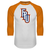 White/Orange Raglan Baseball T Shirt-Angled FPU