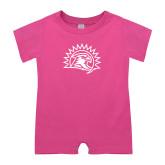 Bubble Gum Pink Infant Romper-Sunbird Head