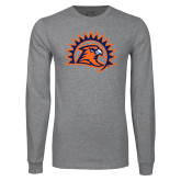 Grey Long Sleeve T Shirt-Sunbird Head