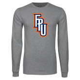 Grey Long Sleeve T Shirt-Angled FPU
