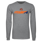 Grey Long Sleeve T Shirt-#TEAMFPU