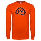 Orange Long Sleeve T Shirt-Sunbird Head