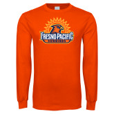 Orange Long Sleeve T Shirt-Fresno Pacific Sunbirds Stacked