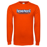 Orange Long Sleeve T Shirt-Fresno Pacific Athletics Stacked
