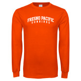 Orange Long Sleeve T Shirt-Fresno Pacific Sunbirds Arched