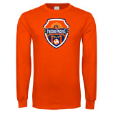 Orange Long Sleeve T Shirt-Sunbirds Soccer Shield